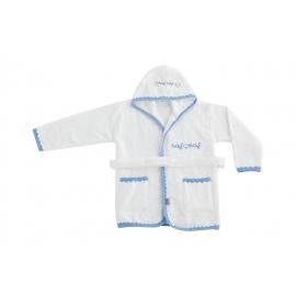 NAF NAF - Halat baie bumbac pentru bebelusi, Heart Blue
