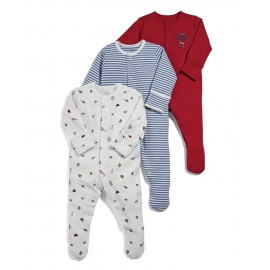 Mamas&Papas - Set Pijamale All-in-one Cone Fishing, 3 buc