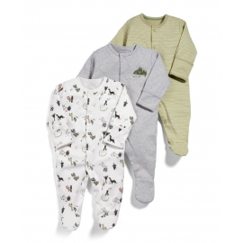 Mamas&Papas - Set Pijamale All-in-one Dino, 3 buc