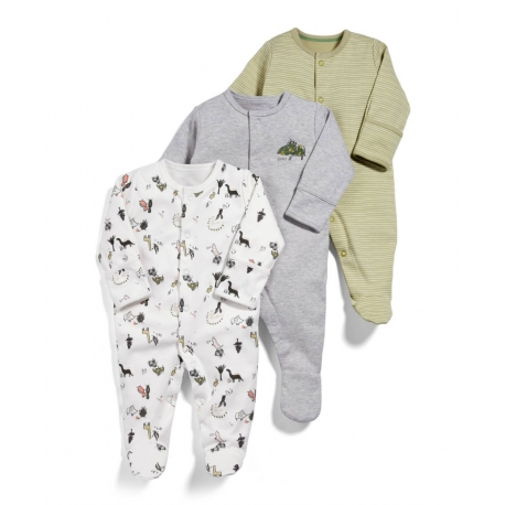 Mamas&Papas - Set Pijamale All-in-one Dino, 3 buc
