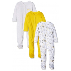 Mothercare - Pijamale body all-in-one Wild, 3 buc