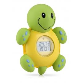 Nuby - Termometru digital pentru baie si ceas,Testoasa