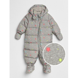 GAP - Combinezon cu puf ColdControl Down Fill, Grey Starry