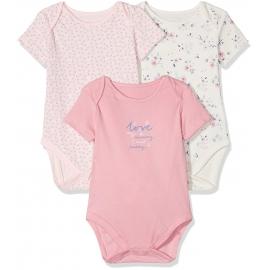 Mothercare - Set Body cu maneca scurta Mummy & Daddy Pink, 3 buc