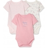 Mothercare - Set Body cu maneca scurta Mummy & Daddy Pink, 3 buc