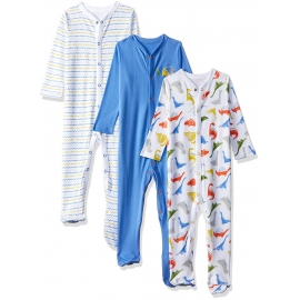 Mothercare - Pijamale body all-in-one Dinosaur, 3 buc