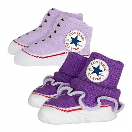 Converse - All Star Infant Booties, 0-6 luni, Alb/Mov