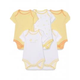 Mothercare - Set Body cu maneca scurta Quack, 3 buc, alb/galben