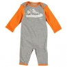 Converse - Salopeta All Star Infant Body All-in-one, Grey/Orange