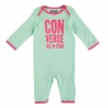 Converse - Salopeta All Star Infant Body All-in-one, Verde/Roz