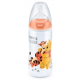 NUK - Biberon First Choice + 300ml, Winnie the Pooh Orange