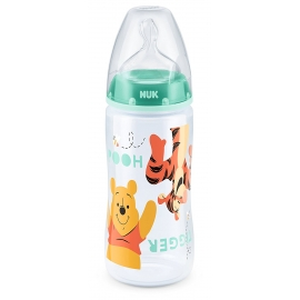 NUK - Biberon First Choice + 300ml, Winnie the Pooh Mint