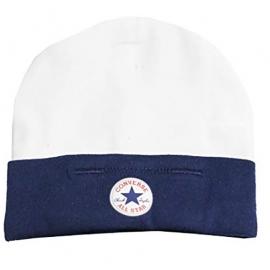 Resigilat Converse - Caciulita din Set 2 piese Hat&Booties All Star, 0-6 luni, Alb/Bleumarin