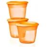 Tommee Tippee - Essentials Recipiente de stocare hrana (set 3 buc portocalii)