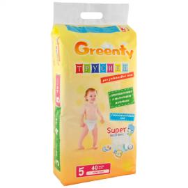 GREENTY - Scutece Pants PREMIUM Nr 5, peste 12 kg, 40 buc
