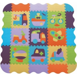Babygreat - Covoras Puzzle Transport+ 122x122 cm