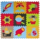 Babygreat - Covoras Puzzle Aventurile piratilor 92x92 cm
