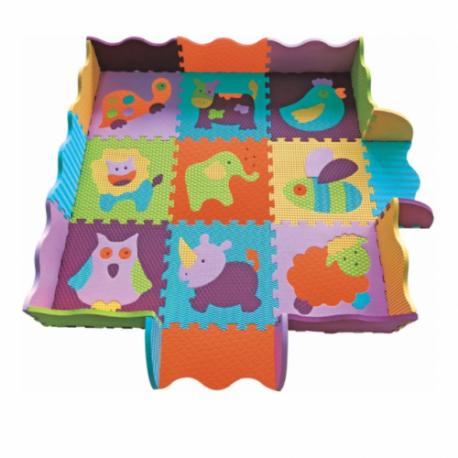 Babygreat Covoras Puzzle Animalutele Vesele II 122x122 cm