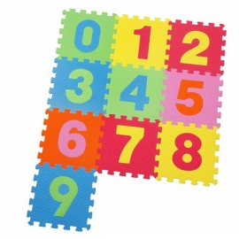 Knorrtoys - Covoras Puzzle Numere, 10 buc. 30x30 cm