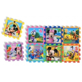 Knorrtoys - Covoras Puzzle Minnie & Mickey Mouse, 8 buc