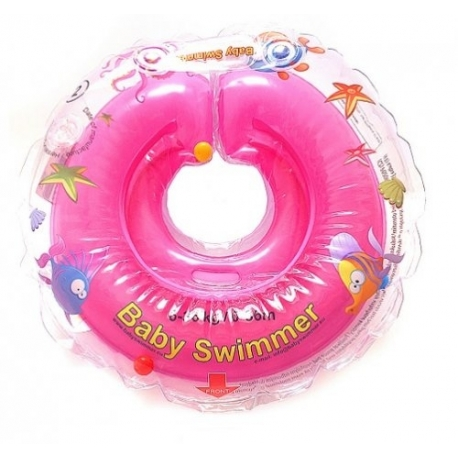 BabySwimmer - Colac Jumatate Transparent 6-36 luni
