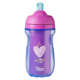 Tommee Tippee - Cana cu Pai Izoterma Active 12+ luni, Roz/Mov