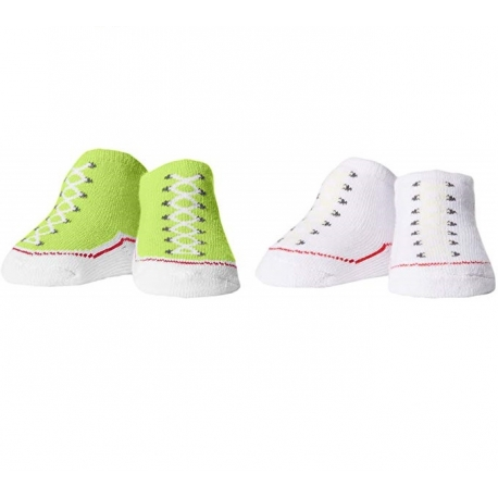 Converse - All Star Infant Booties, 0-6 luni, Alb/Verde