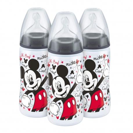NUK - Set 3 Biberoane First Choice+ 300ml, Disney Mickey Mouse