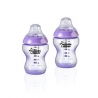 Resigilat Tommee Tippee - Set Biberoane Colour My World 2X260ml, Mov