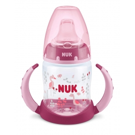 NUK - Canita cu manere First Choice+ 150ml, 6 luni+, Flamingo