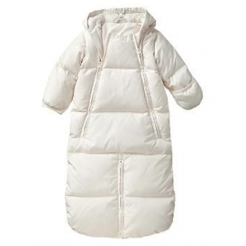 GAP - Combinezon cu puf Warmest Down Fill, Convertible, Crem