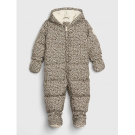 GAP - Combinezon cu puf Warmest Down Fill, Leopard Print