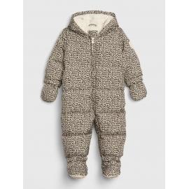 GAP - Salopeta bebelusi iarna Warmest Down Fill, Leopard Print