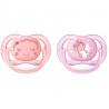 Philips AVENT - Suzete Ultra Air, 0-6 luni, Girls, 2 buc