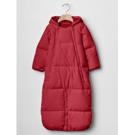 GAP - Combinezon cu puf Warmest Down Fill, Convertible, Red