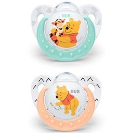 NUK - Suzete Disney Winnie the Pooh, 2 buc, 0-6 luni Crem