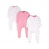 Mothercare - Pijamale body all-in-one Hearts, 3 buc