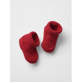 GAP - Botosei bebelusi bumbac Knit, Rosu