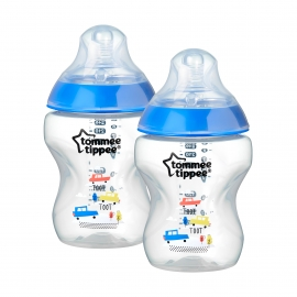 Tommee Tippee - Set Biberoane 2X260ml Decorate Bleu