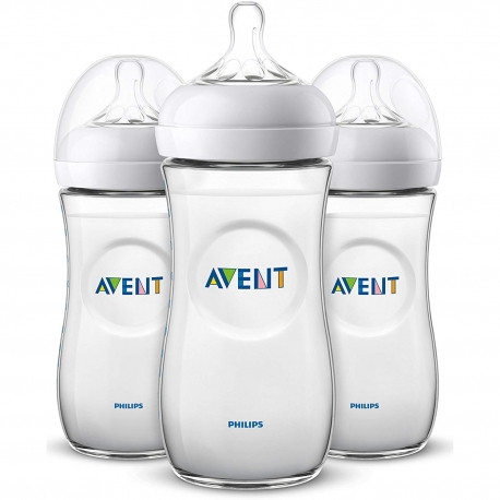 Philips AVENT - Set 3 Biberoane Avent Natural 330 ml cu tetina 6 luni+ SCF036/37