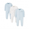Mothercare - Pijamale body all-in-one Elephants, 3 buc