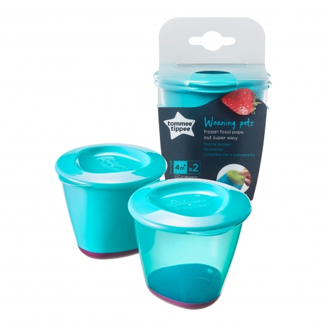 Tommee Tippee - Essentials Recipiente de stocare hrana (set 3 buc bleu)