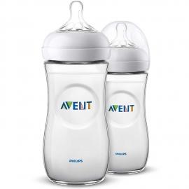 Philips AVENT - Set 2 Biberoane Avent Natural 330 ml cu tetina 6 luni+ SCF036/27