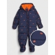 GAP - Combinezon cu puf ColdControl Down Fill, Navy Dinos