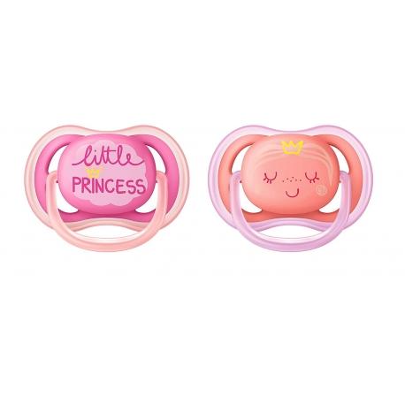 Philips AVENT - Suzete Ultra Air, 6-18 luni, Princess, 2 buc