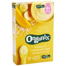 Organix - Cereale cu Orez integral, Porumb, Banane si Mango 4+ luni (120g)