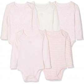 Mothercare - Set Body cu maneca lunga Light Pink, 5 buc