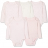 Mothercare - Set Body cu maneca lunga Light Pink, 5 buc