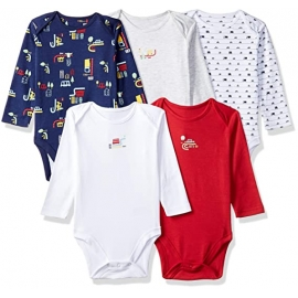 Mothercare - Set Body cu maneca lunga Boys Beep Beep, 5 buc