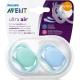 Philips AVENT - Suzete Ultra Air, 6-18 luni, Bleu/Verde, 2 buc